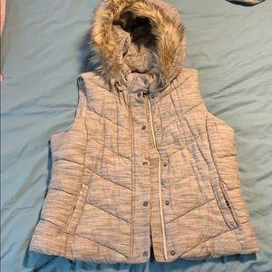 Gap Hood Vest with Fur